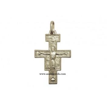 Croce di San damiano argento 925
