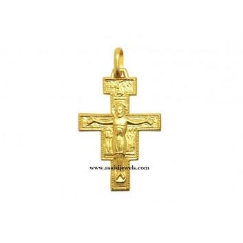 Croce di San damiano oro 18 kt