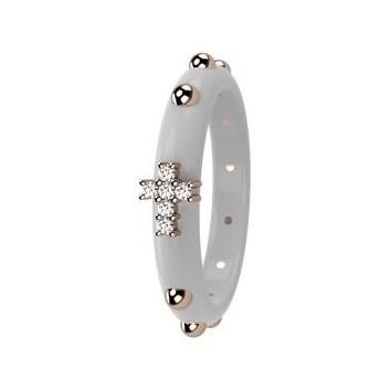 Nardelli anello rosario oro e ceramica