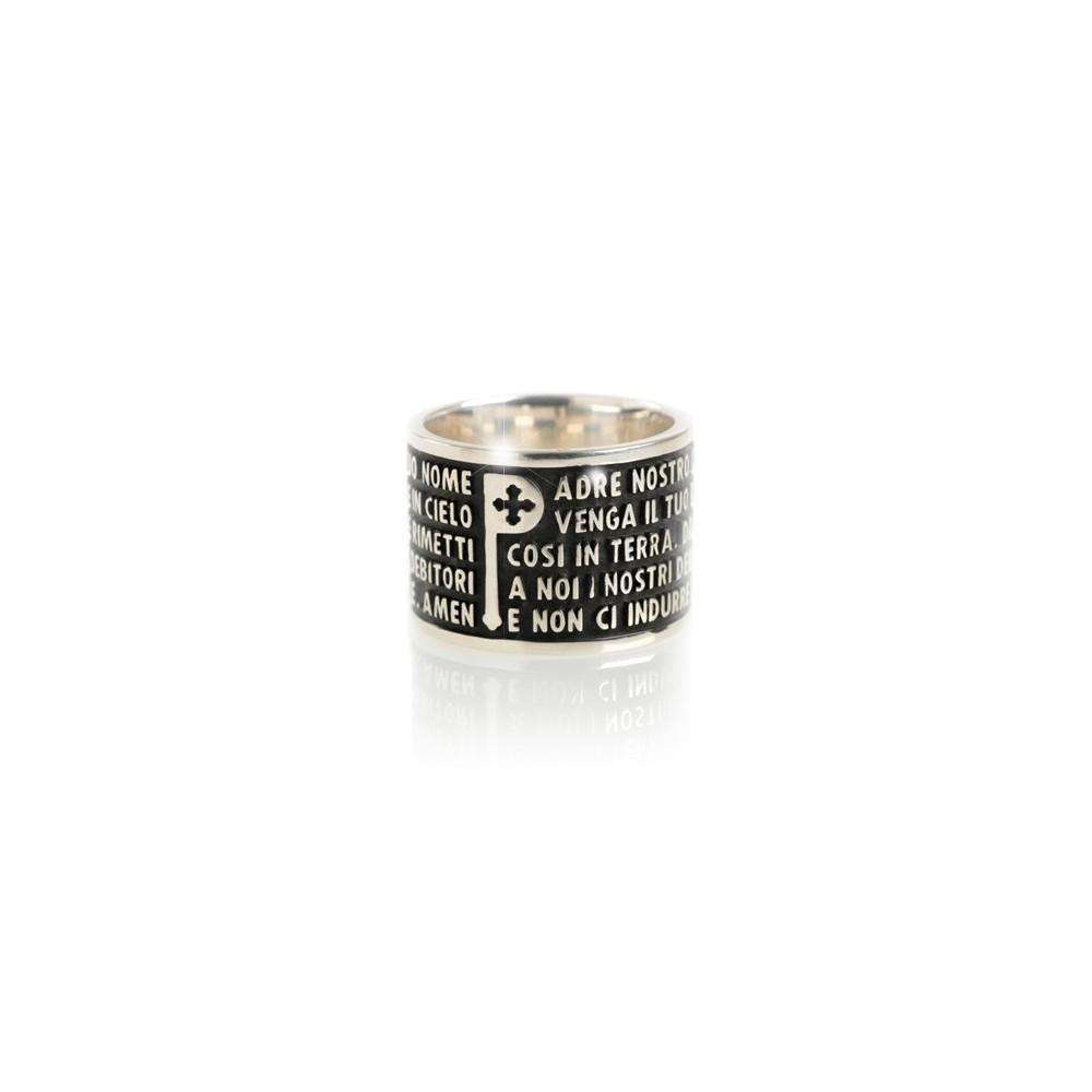 Tuum anello Padre Nostro argento 925