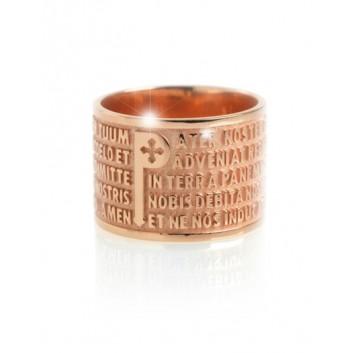 Tuum anello Padre Nostro oro 9 kt