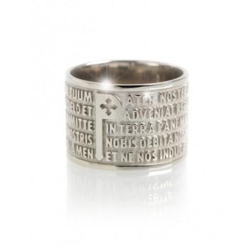 Tuum anello Padre Nostro oro 18 kt