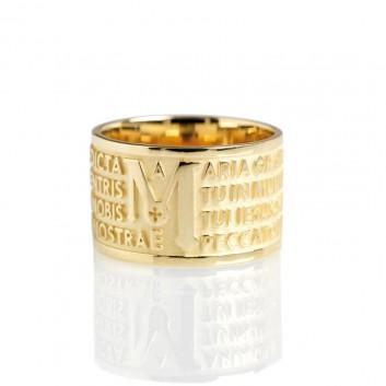 Tuam anello Ave Maria oro 9 kt