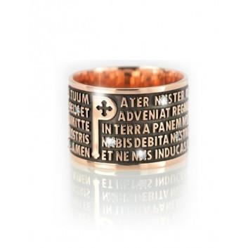 Tuum anello Padre Nostro oro 18 kt con diamanti