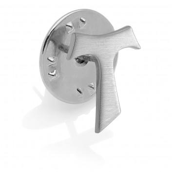 Humilis sterling silver Tau pin