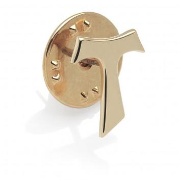 Humilis Spilla Tau in argento placcato oro