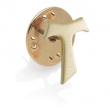 Humilis 18 Kt yellow gold Tau pin