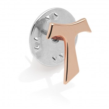 Humilis gold plated sterling silver Tau pin