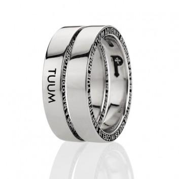 TUUM anello NUMERO DUE argento 925