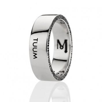 TUUM anello NUMERO UNO argento 925