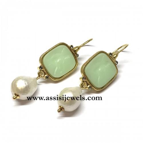 Michelangelo gioielli glass paste intaglio earrings