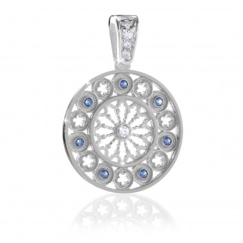 AQUA rose window pendant