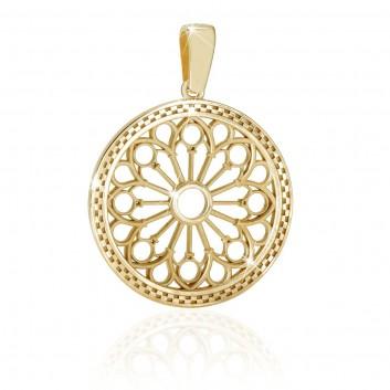 Assisi rosoni gioielli - pendente in oro giallo
