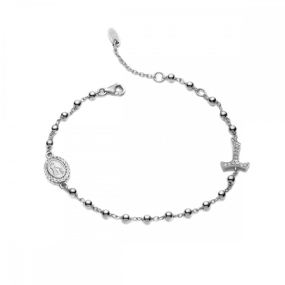 bracciale rosario argento 925 rosario preghiera ricevi 2 bracciali