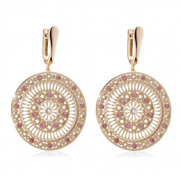 rose window of Assisi - sterling silver FOCU earrings