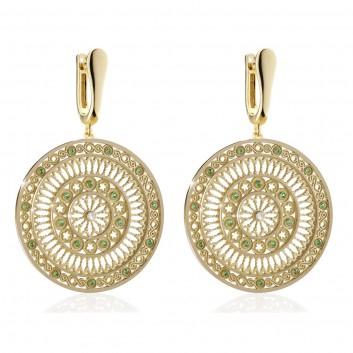 Assisi orecchini rosone TERRA in argento