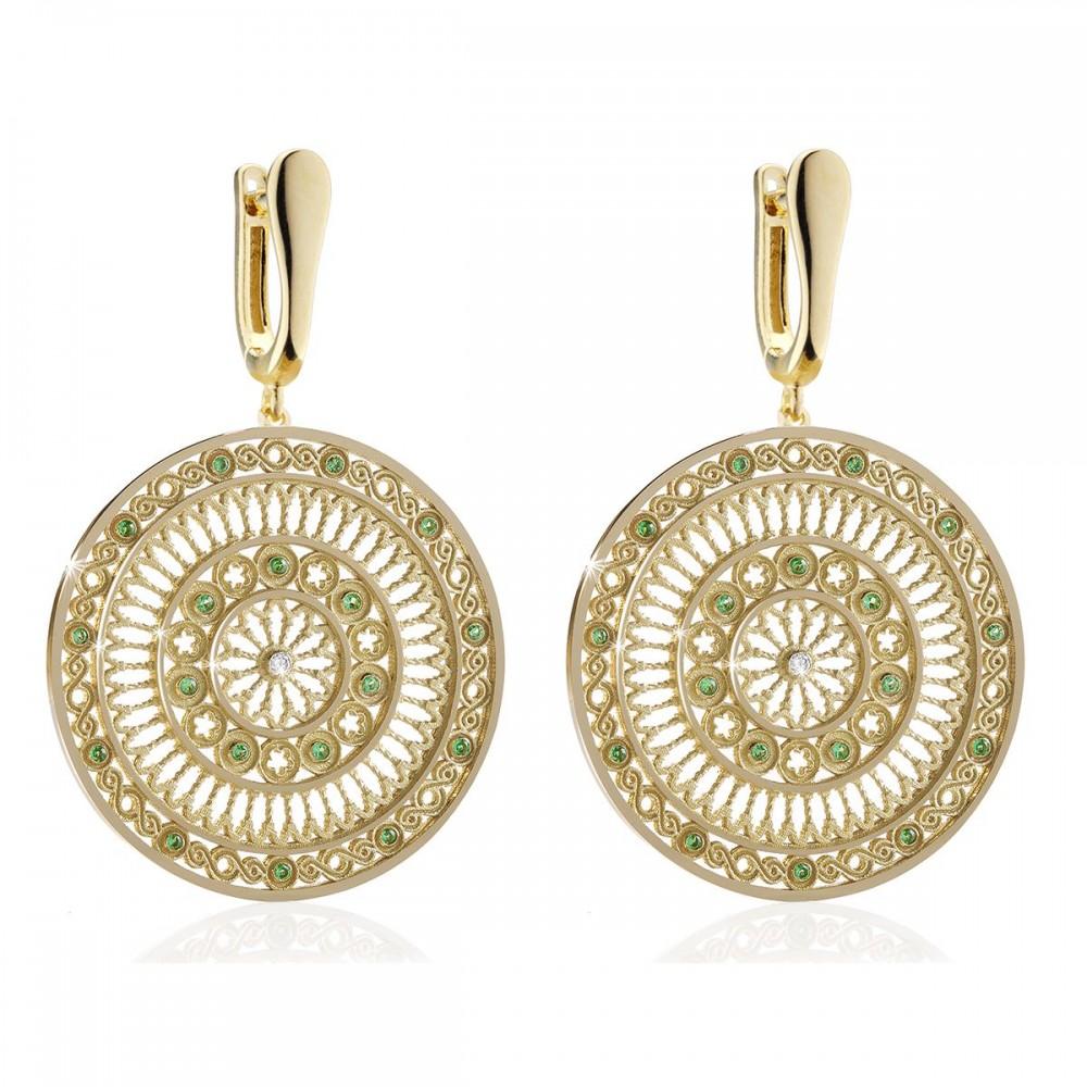 Assisi sterling silver rose window earrings