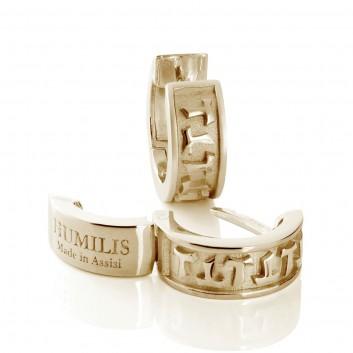 Humilis orecchini a cerchietto in argento placcato oro