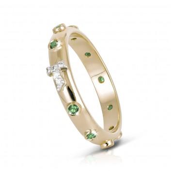 Humilis sterling silver TERRA rosary ring