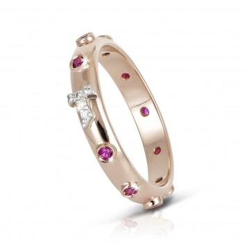 Humilis rose gold FOCU rosary ring