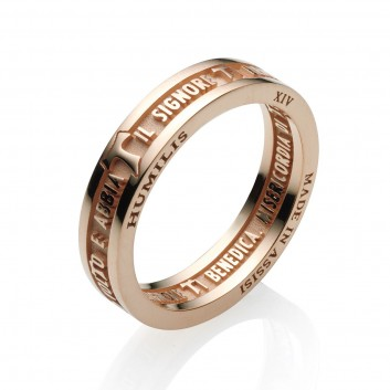 Humilis anello BENEDIZIONE DI SAN FRANCESCO in argento dorato