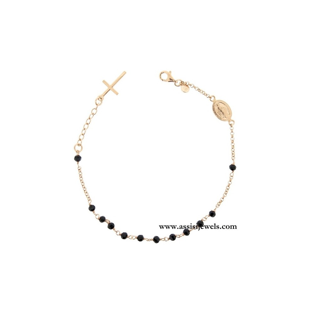 a0d398bf58f376 Bracciale rosario argento 925