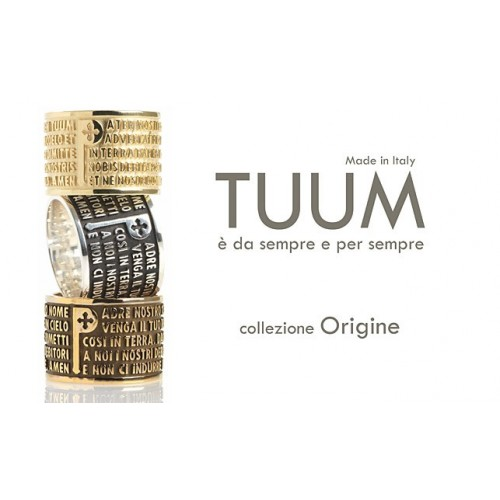 Tuum 925 sterling silver Our Father ring