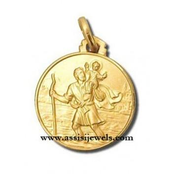 Medaglia di San Cristoforo oro 18 kt