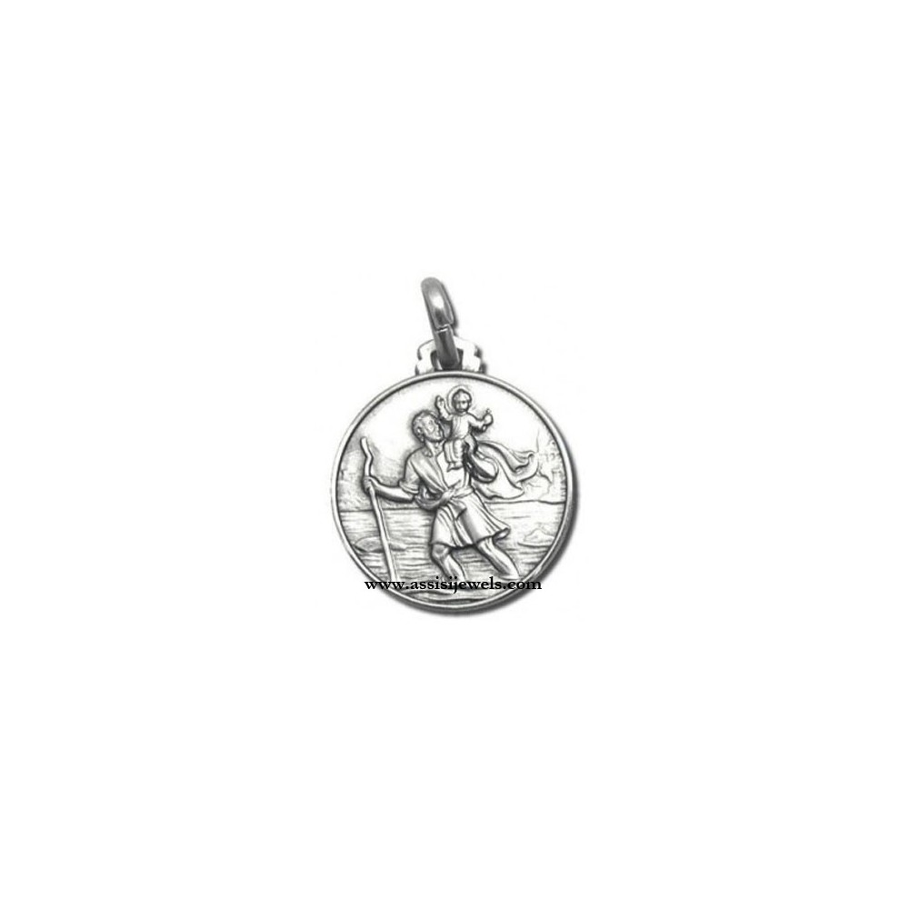 Christopher Medal 925 Sterling Silver St