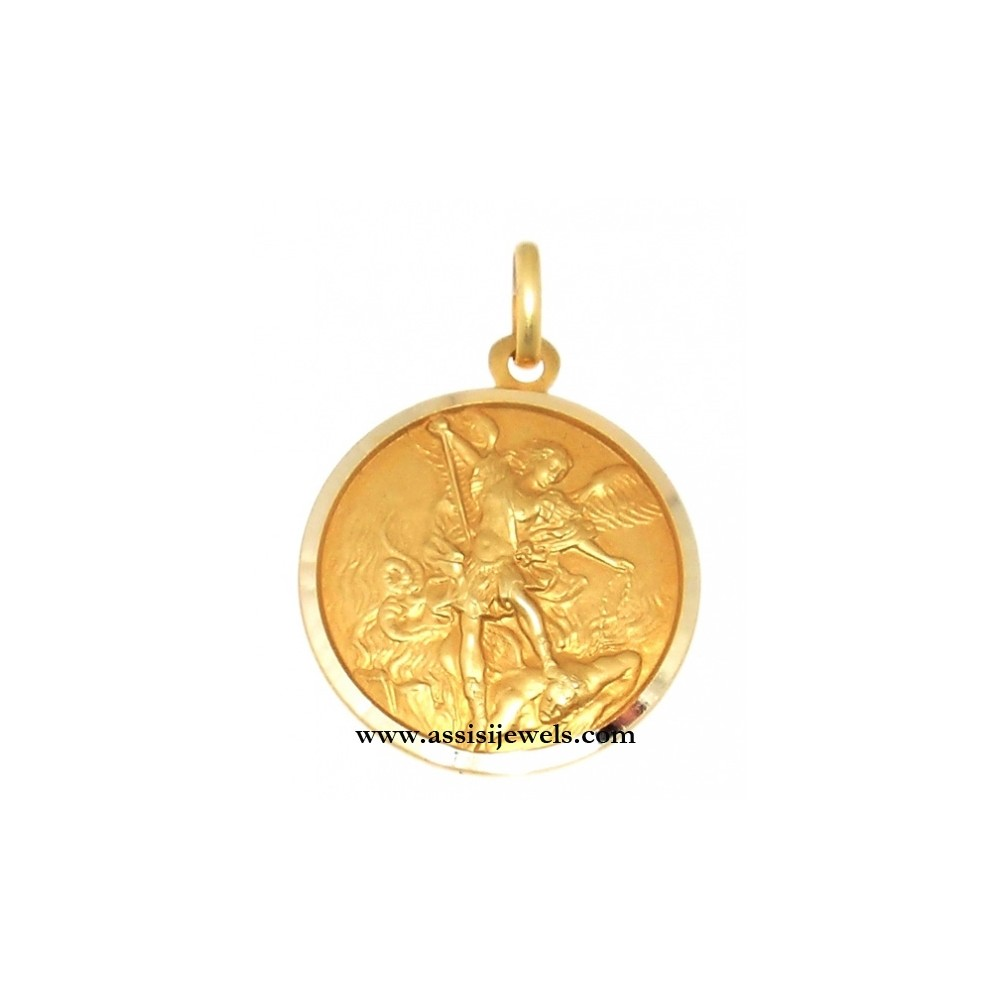 Kt gold saint michael the archangel medal 18 kt gold saint michael the archangel medal mozeypictures Choice Image