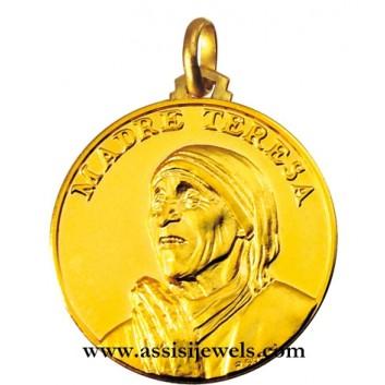 Medaglia di Madre Teresa di Calcutta oro 18 kt