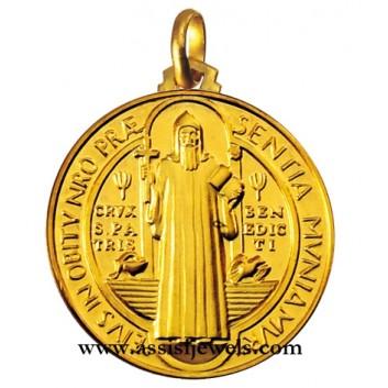 Medaglia di San Benedetto oro 18 kt