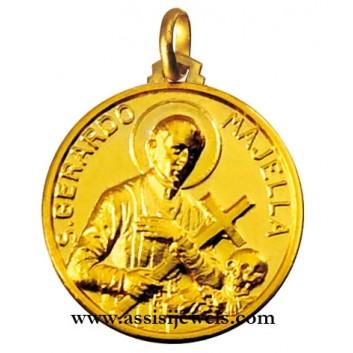 Medaglia di San gerardo oro 18 kt