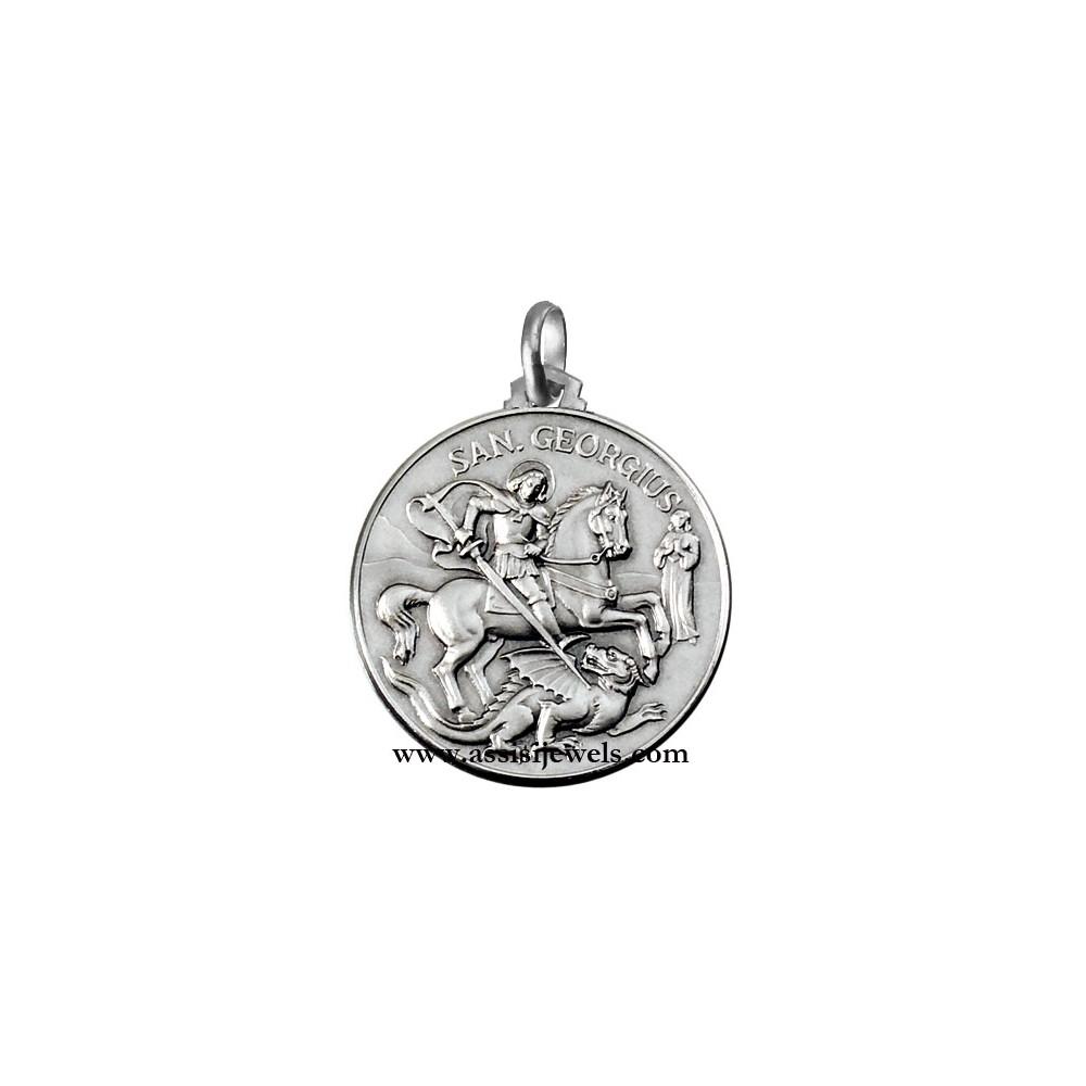 925 Sterling Silver Saint George Medal HbcDu