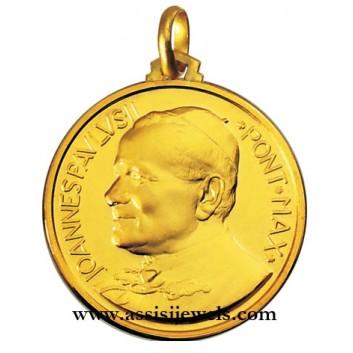 Medaglia di Papa Giovanni Paolo II oro 18 kt