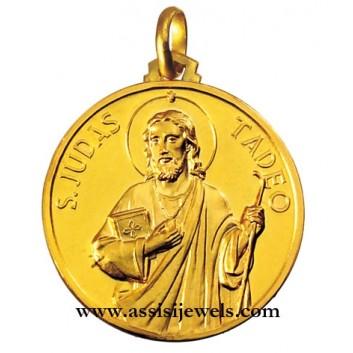 Medaglia di San Giuda Taddeo oro 18 kt