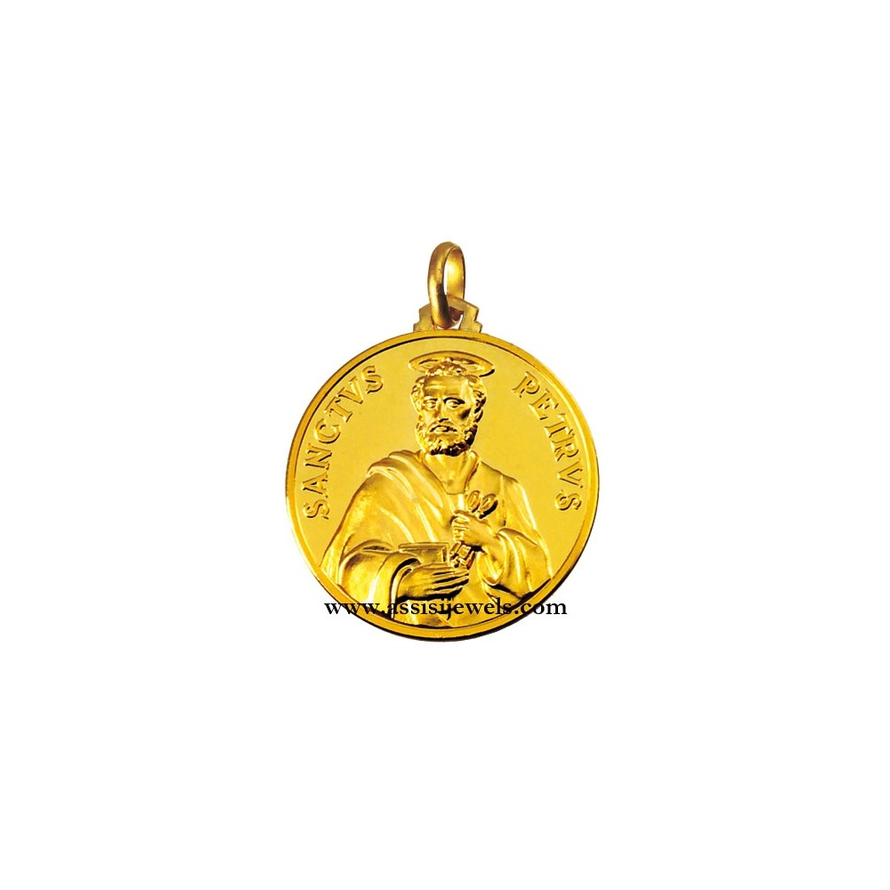 18 kt gold saint peter medal aloadofball Images