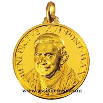 Medaglia di Papa Benedetto XVI oro 18 kt