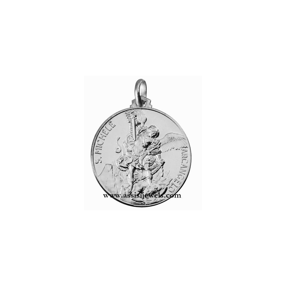 18 kt gold saint michael the archangel medal aloadofball Gallery