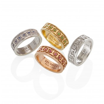 Humilis anello classico AQUA in argento