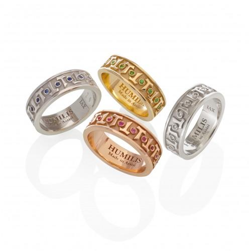 Humilis sterling silver AQUA classic ring