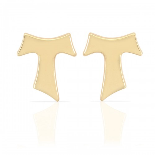 Humilis yellow gold plated sterling silver earrings