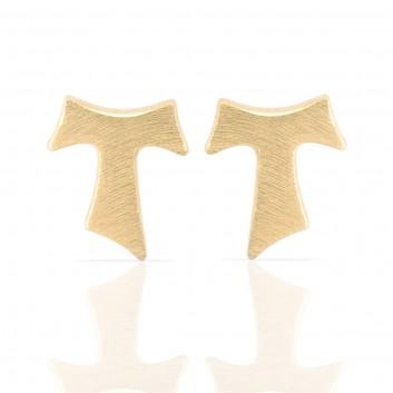 Humilis orecchini in argento placcato oro giallo satinato