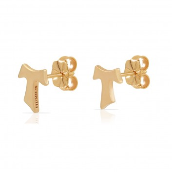 Humilis yellow gold earrings