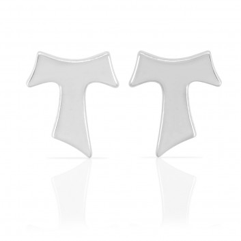 Humilis white gold earrings
