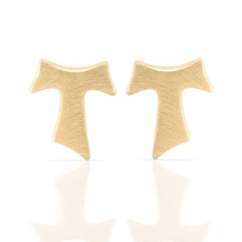 Humilis yellow gold satin earrings