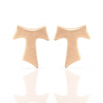 Humilis rose gold satin earrings