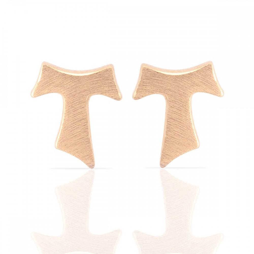 Humilis orecchini in oro rosa satinato