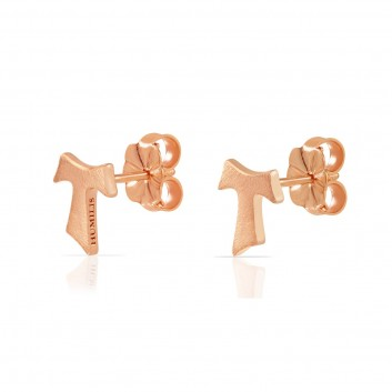 Humilis rose gold satin earrings