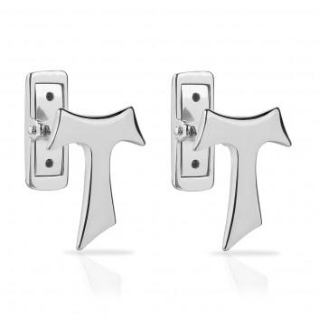 Humilis sterling silver SIGN Tau cufflinks